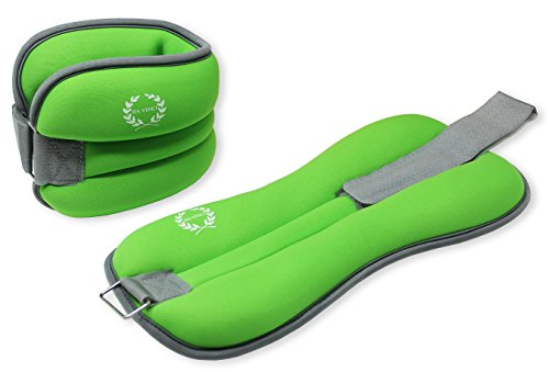 DA VINCI Adjustable Ankle Weights Sold in Pairs (Green)