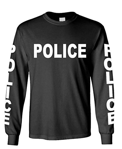 Police - Novelty Duty cop Law Enforcement - Long Sleeved Tee, M, Black