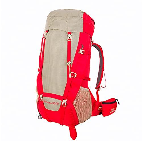 HOUJIA Zaino da Alpinismo Zaino da Trekking Zaino Multifunzione 50+10L Zaino da Trekking Grande capacità Zaino Unisex Adulto per Escursionismo Montagna Campeggio Alpinismo Viaggio,Multifunzione