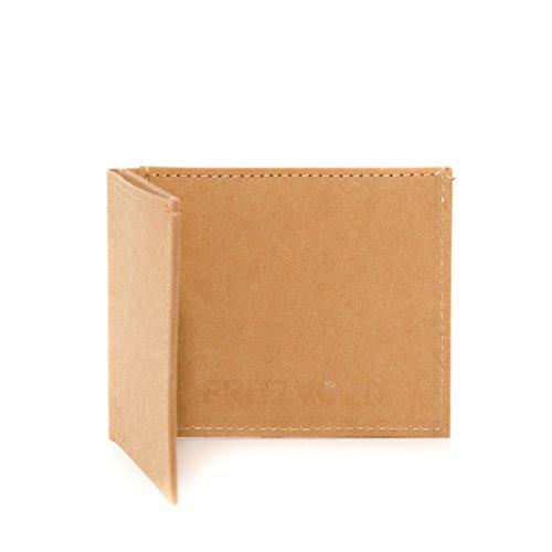 FRITZVOLD ® Kleiner dünner Geldbeutel Herren mit Münzfach - Kleine Geldbörse, Slim Wallet, Brieftasche, extrem flaches Portmonee in braun für Männer und Frauen