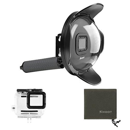 SHOOT Subacuático Cúpula 6 Pulgada Dome para GoPro Hero 7 Black/(2018)/Hero 6/Hero 5 Cámara con Carcasa y Mango