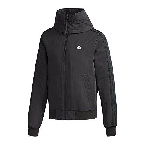 adidas Herren Hooded 3-Streifen Bomberjacke Jacke, Black/White, M