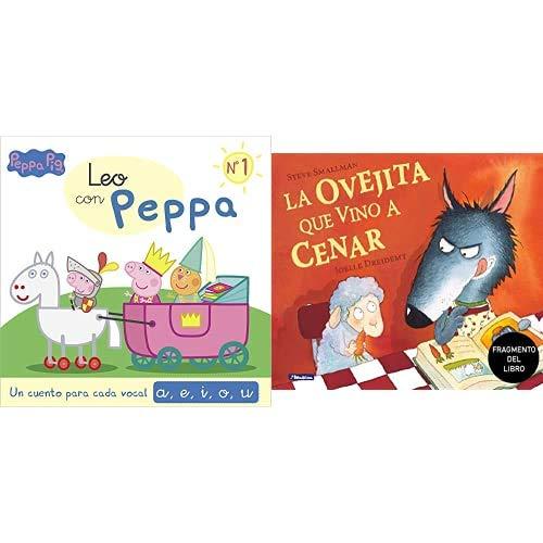 Un cuento para cada vocal: a, e, i, o, u (Leo con Peppa Pig 1) + Promoción fragmento del libro La ovejita que vino a cenar. Edición especial no venal