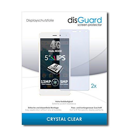 disGuard® Bildschirmschutzfolie [Crystal Clear] kompatibel mit Allview E4 Lite [2 Stück] Kristallklar, Transparent, Unsichtbar, Extrem Kratzfest, Anti-Fingerabdruck - Panzerglas Folie, Schutzfolie