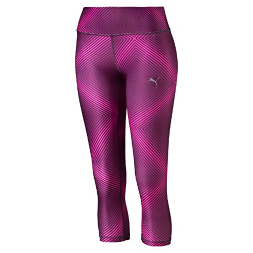Puma All Eyes on Me 3/4 Pantalone Sportivo - Multicolore (Pink Glo/Magenta Purple) - S