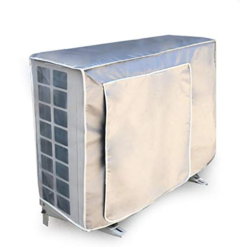 STTC Copertura per Condizionatore, Impermeabile Antipolvere Anti-UV Anti-Neve Universale Portatile Telo Copri-Condizionatore in Tessuto d'Argento,1.5P/80 * 26 * 57