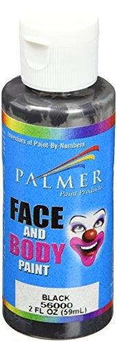 Palmer 56000-36 Face & Body Paint, 2 oz, Black