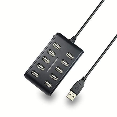 LIN-rlp Hubs USB USB Splitter, 10-Puerto USB 3.0 Data Hub con Puertos de Carga y sincronización, for el iPhone, iPad, teléfonos Inteligentes y Las tabletas de Samsung / 4.13x2.4x0.8 Pulgadas