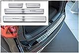 tuning-art L370-XF502-3 Protección Parachoques y de umbral, Color:Plata