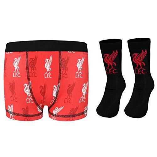 Liverpool FC Jungen Socken & Boxershorts, offizielles Fußball-Geschenkset, Jungen, rot, 9-10 Jahre