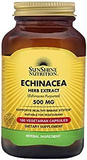 SUNSHINE NUTRITION Echinacea, 500 mg 100 Capsules