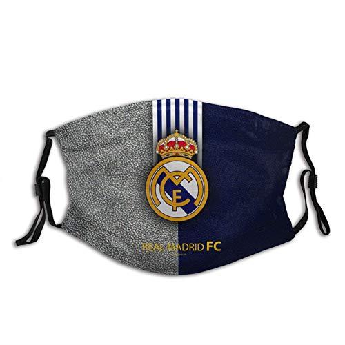 Bandanas de pasamontañas del Real Madrid, protección anti-UV, ajustable, con 6 filtros