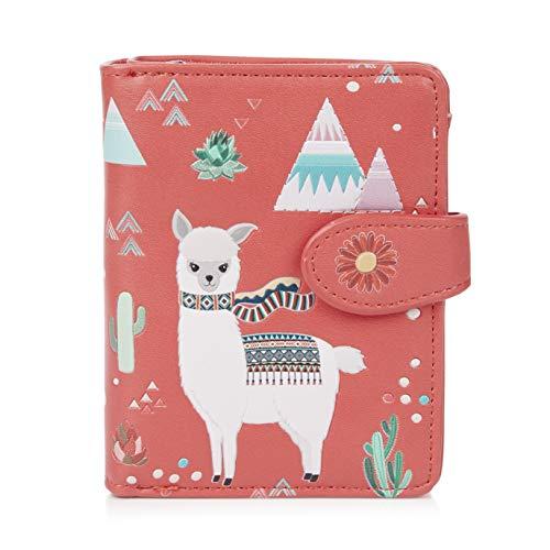 Shagwear ® Portemonnaie Geldbörse Damen Geldbeutel Mädchen Bifold Mehrfarbig Portmonee Designs: (Lama)