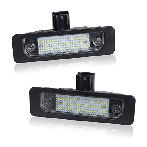 RUXIFEY LED License Plate Light Lamps Compatible with 2009 to 2018 Ford Flex, 2010 to 2014 Mustang, 2008 to 2011 Focus, 2006 to 2012 Fusion, 6000K White