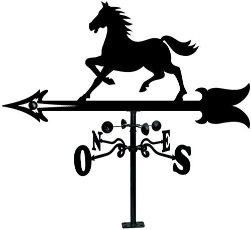 Arthifor Dachsegel mit Pferde-Silhouette, schwarz matt