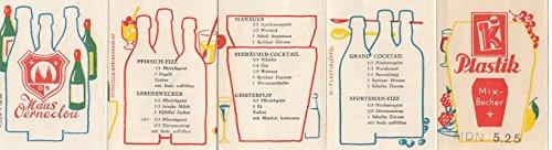 Kleines Werbeheftchen von der Firma Ki-Plastik mit Mix-Rezepten von der Firma Haus Oerneclou zum Mix-Becher.