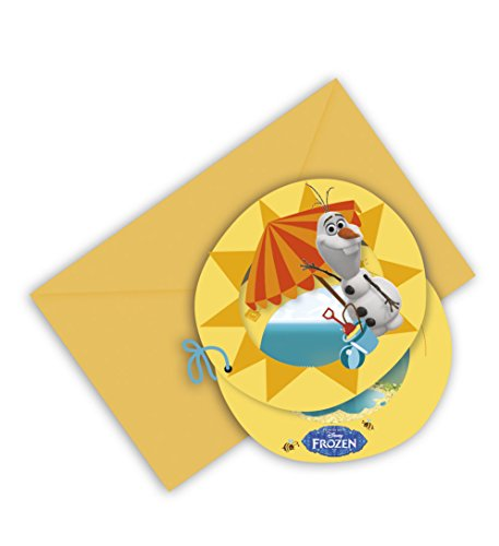 6 Cartes d'invitation Olaf - taille - Taille Unique - 225759
