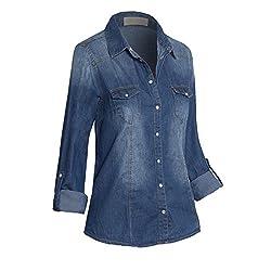 women's denim cowgirl shirt