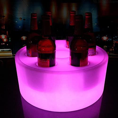 YMXDXTY Clásico Libre LED de Hielo Cubo de Hielo Cubo de Hielo Club de Noche KTV LED Cerveza Cambio de Color de Color Intermitente Luz de Vino Cubos de Hielo El Bar de la Fiesta KTV (Color : 7 Holes)
