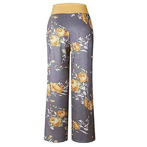 U/A Pantalones de Mujer Comfy Stretch Floral Print Drawstring Wide Leg Lounge...