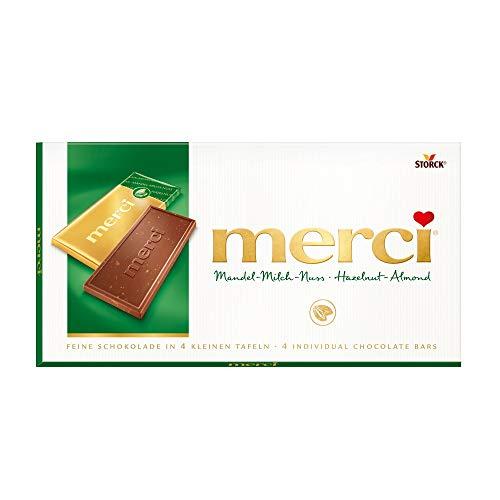 merci - Tafelschokolade Barre Chocolat amande-noix de lait 100g