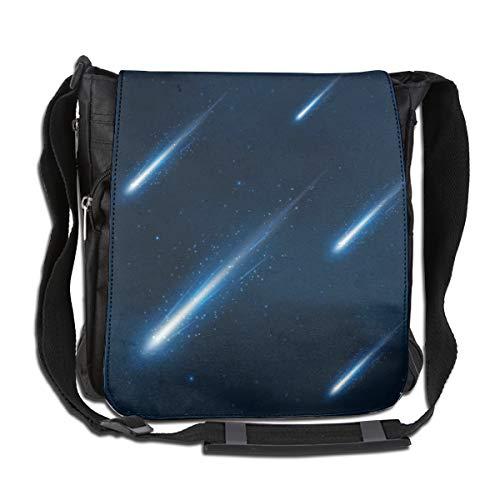 Doinh Comet Umhängetasche, Motiv: Dusche im Sternenhimmel, personalisierbar, Segeltuch, schräg, geeignet für Männer und Frauen
