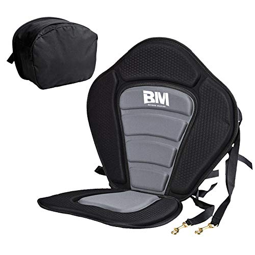 BEYOND MARINA Kayak Seats with Back Support for Sit On Top, Cushioned Seat Pad with Back Storage Bag, Comfortable Kayak Seat Cushion for Paddle Board