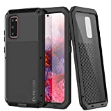 Galaxy S20 Metal Case Heavy Duty Military Grade Armor Cover [Shockproof] Hybrid Full Body Hard Aluminum & TPU Design [Non Slip] for Samsung Galaxy S20 (2020) (6.2') [Black]