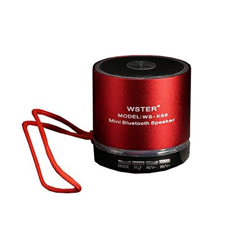 Altoparlante portatile Mini Speaker Bluetooth FM radio rosso di RollingBull®