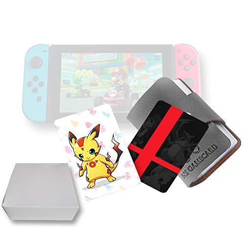 20 pezzi di carte da gioco con tag NFC per Super Smash Bros, compatibili per Switch / Wii U / 3DS XL con portafogli in pelle portatile