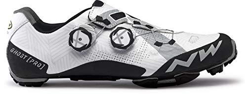 Northwave Ghost Pro MTB 2021 - Zapatillas de ciclismo (talla 43,5), color blanco y negro