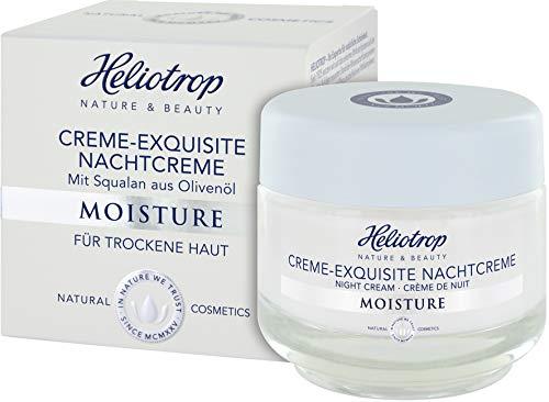 HELIOTROP Naturkosmetik MOISTURE Creme-Exquisite Nachtcreme, Für ein samtweiches Hautgefühl, Stärkt die sensible Hydro-Lipid-Balance, 50ml