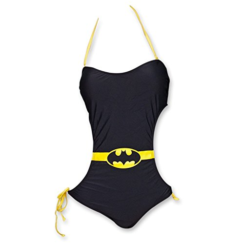 Batman Damens Fledermaus Bandeau Monokini EIN Stück Badeanzug S