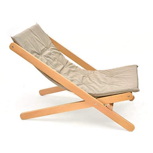 YYTY12 ligstoel inklapbaar beuken verstelbare rugleuning van katoen bekleed voor de tijd Libero ademend voor kantoor afmetingen 60 x 90 x 78