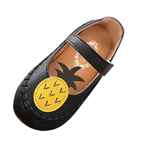 Baby Shoes Beach Sandals,Ewendy Petite Fille Mignonnes Fruits Chaussures Chaussures à Semelle Souple Ananas Chaussures de Sport décontractées (3-3.5, Noir)