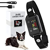 Anti Bark Collar - Smart Stop Dog Barking Collar, Touch Screen Bark Collar with Sound Vibration, Magnetic Rechargeable Dog Training Collar, Waterproof Anti Barking Collars for Small Medium Large Dogs
