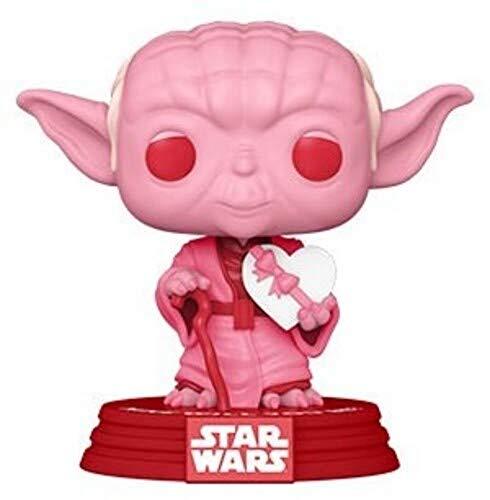 Funko- Pop Star Wars: Valentines-Yoda w/Heart Figurine de Collection, 52870, Multicolour