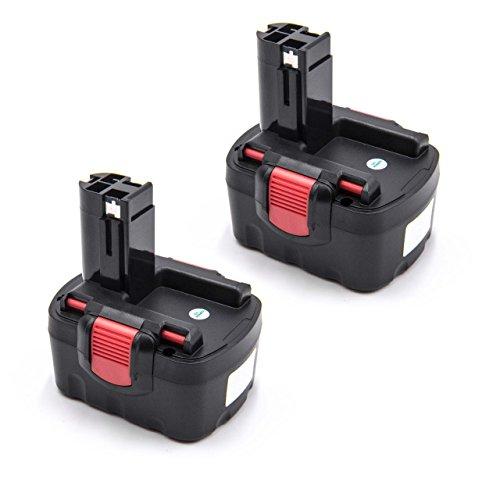 vhbw 2x Batería reemplaza Bosch 2 607 335 275, 2 607 335 611, 2 607 335 619, 2 607 335 655 para herramientas eléctricas (1500mAh NiMH 14,4V)