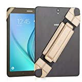 JOYLINK Universal Tablet Hand Strap Holder, 360 Degrees Swivel Leather Handle Grip with Elastic Belt, Secure & Portable for 10.1' Tablets (Samsung Asus Acer Google iPad), Gold