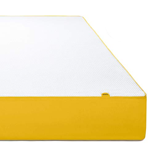 EVE colchón Memoria de colchón Blanco y Amarillo 200x 90x 25cm