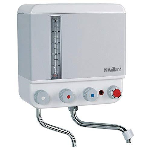 Vaillant 3809012 Kochendwassergerät VEK 5L 2.4 kW/230 V mit Summton, weiß/hellgrau