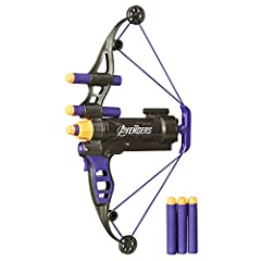 High quality toys for children all ages Made using safe materials Tested for quality and durability High quality toys for children all ages. Tested for quality and durability. Avengers' hawkeye longshot bow lets you launch darts just like hawkeye fir...