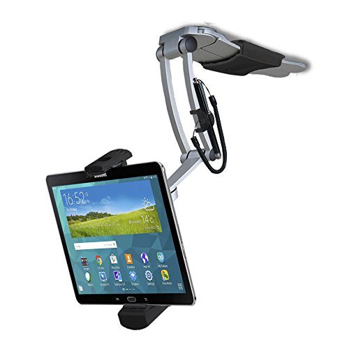 CTA Digital Pad-KMS - Soporte de Pared 2 en 1 para Tablets de 7 a 13 Pulgadas, iPad 2018/iPad Pro, Negro