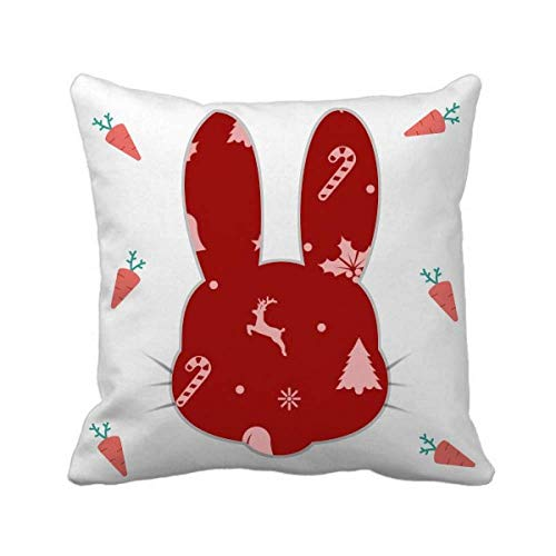 cold master DIY lab Christmas Snowflake Elk Crutch Bell Rabbit Throw Pillow Square Cover