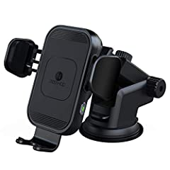 【Smarter Automatic Sensor Design】Automatic opening and clamping design which can be operated by one hand and make everything easier. Just place your phone inside the holder, the clamps will close and catch your phone firmly. A gentle touch on any sid...