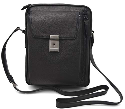 PRADA MAN BAG SHOULDER Tas met SHOULDER riem LEATHER CASUAL CODE 2VH024 een maat NERO ZWART