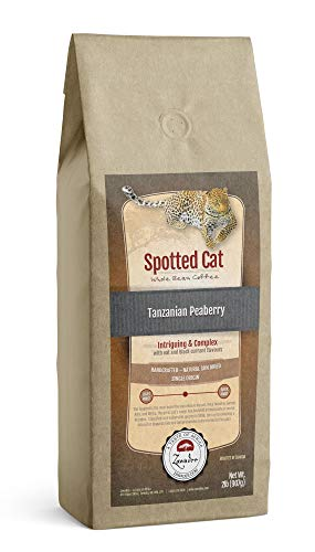 Whole Bean Coffee Spotted Cat Tanzanian Peaberry 2 lb