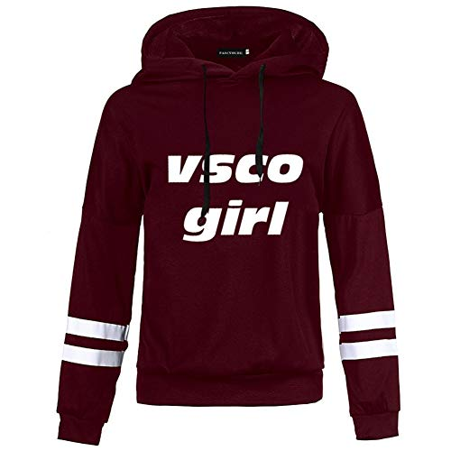 lucasy Vsco meisjes hoodie lange mouwen trui grappige Meme Esthetische Cap Casual tops trui Jumper