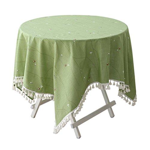 Nappe vert hibou table à manger table ronde table carrée nappe rectangulaire coton petit frais (Size : 140 * 200cm)
