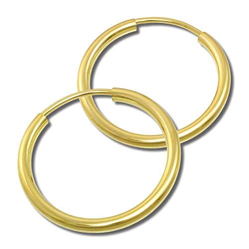 GoldDream Gold Creolen 20mm 333 Gelbgold Ohrring Simply Echtschmuck D3GDO0002Y Gold, Gelbgold Ohrschmuck für die Frau